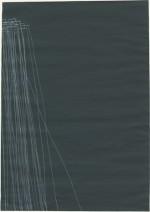 30 x 21 cm, 2009, carbone blanc sur acrylique