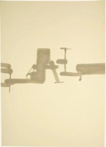 100 x 70 cm, 2009, laque sur papier