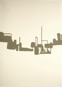 130 x 90 cm, 2009, laque sur papier